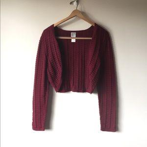 CITY DKNY Cropped knit sweater
